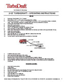 TurboDraft Compact 2.5 Inch Unit Operating Instructions