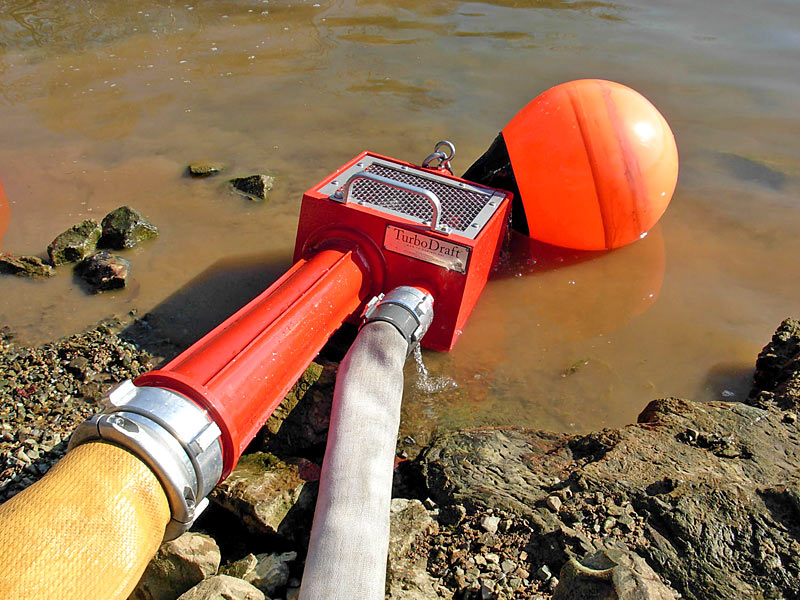 Ready to deploy the standard TurboDraft, mooring buoy attached as a float