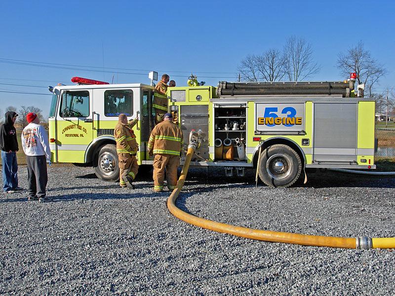 TurboDraft fire company training in Pennsylvania